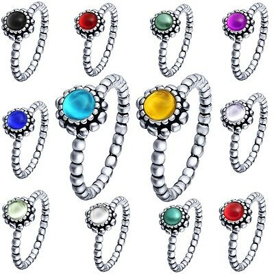 Brand Women Fine Stones Silver Filled Wedding Ring Size 6-9 Sterling 925 Jewelry