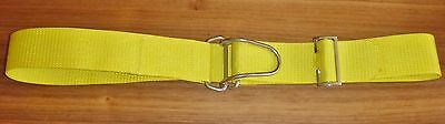 Diving Scuba Weight Belt 50mm Webbing Metal Heavy Duty Wire Loop Buckle Yellow