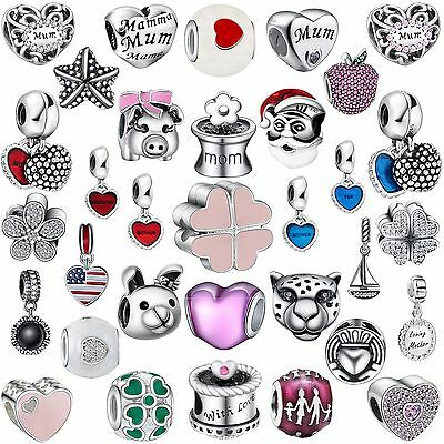 2017 New Fine Silver Charms Fashion Bead Fit Women 925 Sterling Bracelets Chain