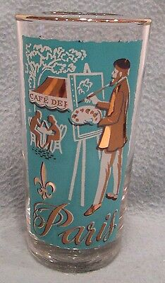 Libbey Cities Of The World Paris Tumbler Glass Vintage Barware Replacement