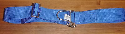 Diving Scuba Weight Belt 50mm Webbing Metal Heavy Duty Wire Loop Buckle BLUE
