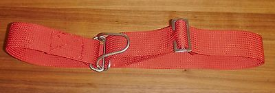 Diving Scuba Weight Belt 50mm Webbing Metal Heavy Duty Wire Loop Buckle RED