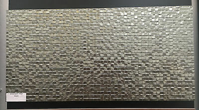 SILVER SQUARES 300 x 600 GLAZED PORCELAIN METALLIC FINISH FLOOR/WALL TILE