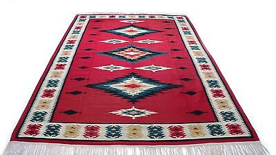 "Antique Vintage Tribal Handmade Hand-Knotted Soft Rug  72"" X 122"" pure wool  #58"
