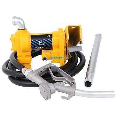 12V Fuel Transfer DC 20 GPM Gasoline Pump Gas Diesel Kerosene + Nozzle Set