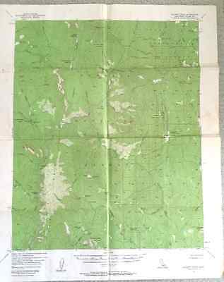 1956 USGS Map Hockett Peak, Tulare County,  California