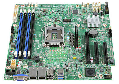 Intel DBS1200SPS Server Motherboard C232 Chipset for Xeon E3, DDR4 ECC