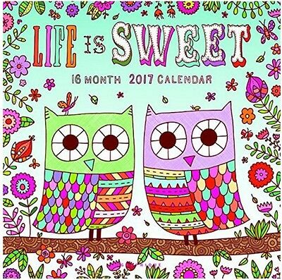 """Graphique 2017 Life is Sweet 12"""" x 12"""", Wall Calendar (CY80817)"""