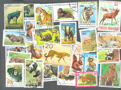 Wild Animals 500 collection all different-worldwide stamps
