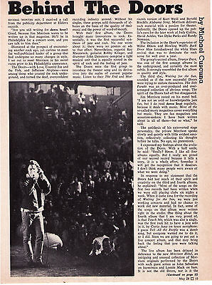 """The Doors """"Behind The Doors"""" Vintage 2-page Photo Article"""