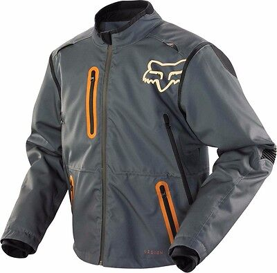 2016 Fox Racing Legion Jacket - Mens Dirtbike Offroad GREY-ORANGE