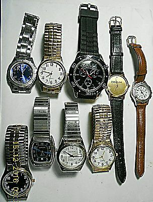 Lot of Junk Watches Not Working May Need Battery Waltham Quartz Sportstech Field