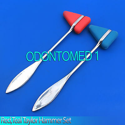 2 Pieces Set Red,Teal Taylor Percussion Reflex Hammer Medical Instruments
