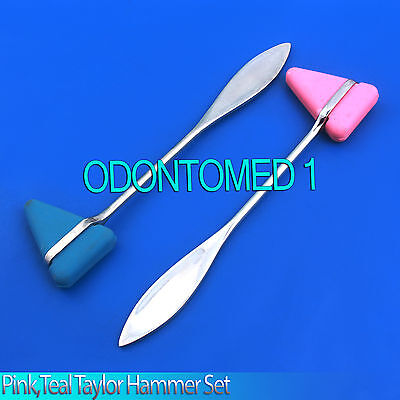 2 Pieces Set Pink,Teal Taylor Percussion Reflex Hammer Medical Instruments