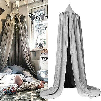 Bed Canopy Kids Baby Cotton Bedding Round Dome Netting Bedcover Mosquito Net AU