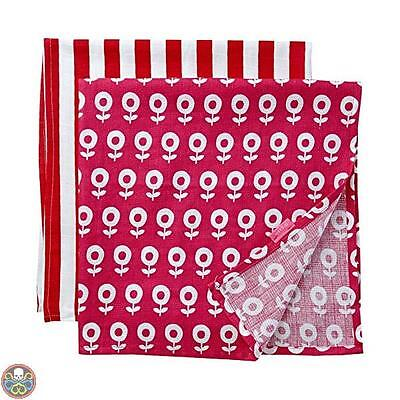 Toby Tiger Tg: Taglia Unica Pink Dot Flower Muslin Two Pack Sciarpa Nuovo