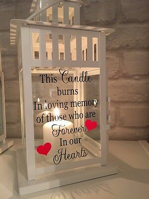 Memorial Candle Lantern Forever In Our Hearts Graveside Memorial