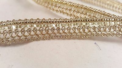 1.3cm- 1 meter beautiful gold sequins lace trimming edging for crafting decor