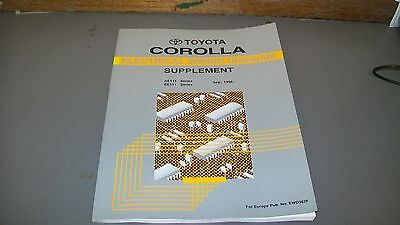 Toyota Workshop Repair Manual,supplement,corolla,electrical Wiring,sept 1998