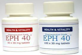 Pure EPH 40 for Slimmers, Athlets & Body Builders Ephedrine Free Trial Pack