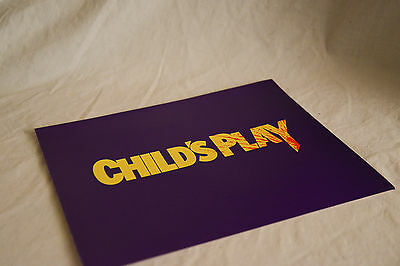 Vintage cinema campaign press kit, pack, synopsis sheet, cast list: CHILD'S PLAY