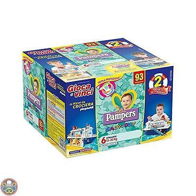 Pampers Tg: 93 Pezzi Baby Dry Pannolini Extralarge Taglia 6 15-30 Kg 93 Nuovo