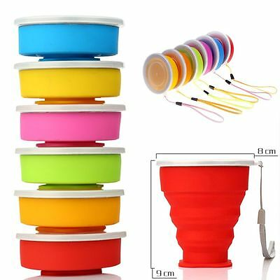 200ML Mug Telescopic Outdoor Camping Folding Collapsible Cup Silicone Travel