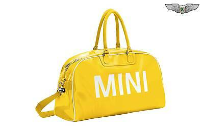 BMW MINI New Genuine Retro Yellow Holdall Travel Sports Duffle Bag 8022287995