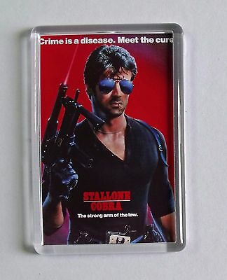 Cobra Sylvester Stallone Brigitte Nielsen movie poster fridge magnet