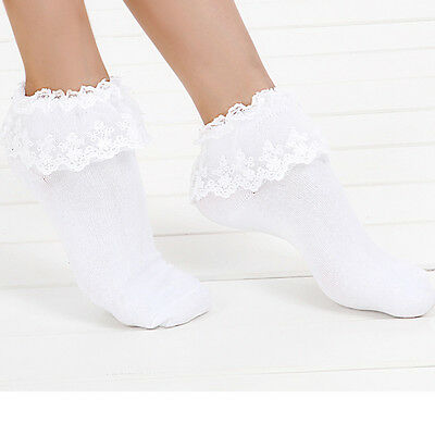 Lovely Ankle Socks Women Girl Lace Sweet Ruffle Cute Frilly