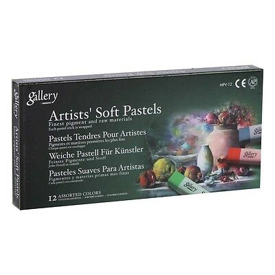 Gallery by Mungyo Artists Soft Pastels Cardboard Box Set of 12 Colours