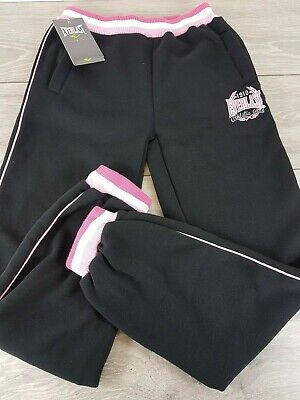 Everlast Jogging Pants Girls SIZE 11 - 12 Yrs Black Bottom Sport New  B622-11