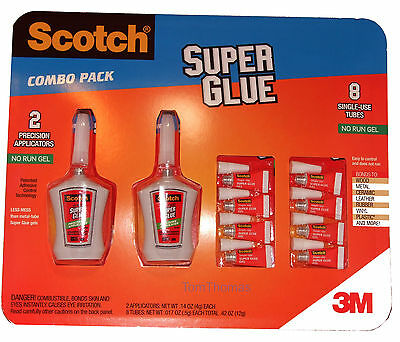 Scotch Superglue Multi Combo Pack No Run Gel Super Glue
