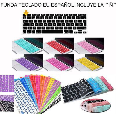 "Funda Teclado Para Macbook Tpu Gel Eu Español Con Letra Ñ Pro Air 11"" 12"" 13"" 15"