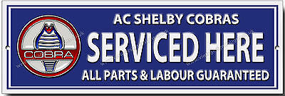 Ac Shelby Cobras Serviced Here Metal Sign.classic American Muscle Cars.garage.