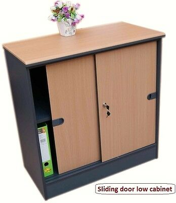 JDK Concept - Office Storage cupboard with sliding door, Home office low cabinet