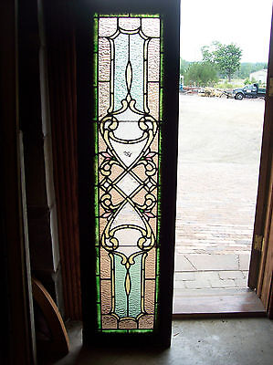 Elaborate Transom with bevel center pieces and stained glass (SG 1285)