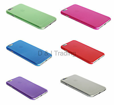 For Apple iPhone 6  6S Slim Hard Plastic Case Phone Cover 6 color