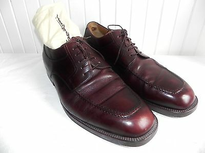 Mens Shoes Santoni Wingtip Oxford Dress Brown Calf Leather Size 10.5 EE & Bags