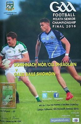 Meath GAA 2016 County Final. Simonstown Gaels vs Donaghmore/Ashbourne Programme