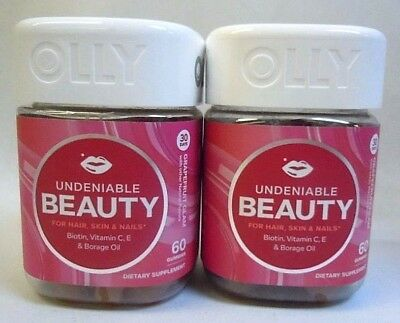 Olly Undeniable Beauty Grapefruit Glam Flavored 60 Gummies Exp 10/17 NEW SEALED