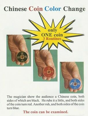 Free Shipping Chinese Coin Color Change - Magic Trick, Coin&Money Trick