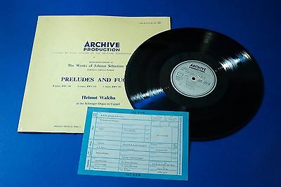 APM 14508 Archive Production DGG Bach Organ Works Preludes Fugues Helmut Walcha
