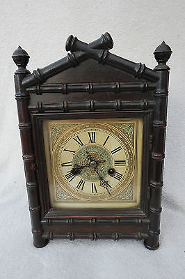 Antique Hac Aesthetic Movement 8 Day Bracket Clock For Spares Repair