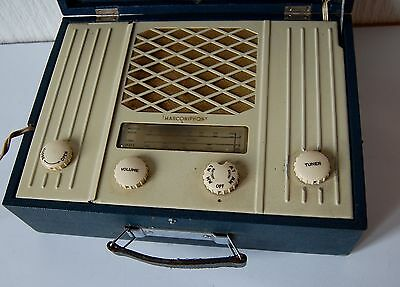 Vintage Portable G. Marconi Marconiphone Am Radio
