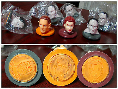 Star Trek Ds9 Deep Space 9 Nine 7 Rubber Stamp Heads - Post Cereal Premiums 1993
