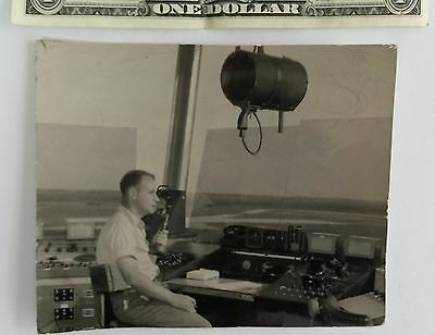 Vintage rare old photo of Carrasco airport control tower Montevideo Uruguay 19