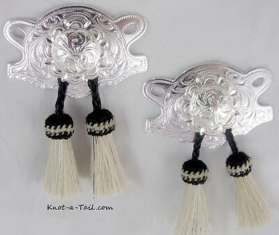 Cowgirl Boot Jewelry, Boot kilty's  Horse Hair Kilties Beauties White  Bling-up