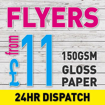 FULL Colour Printed FLYERS 150gsm GLOSS A6 A5 A4 A3