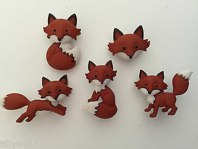 Out Foxed DRESS IT UP Novelty Fox Craft Buttons